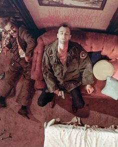 Robert De Niro in Taxi Driver. Directed by Martin Scorsese, movie released in 1976.