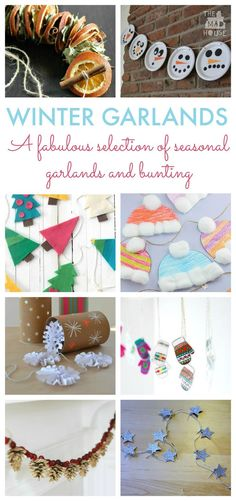A fabulous selection of seasonal DIY garlands, perfect for winter and Christmas.