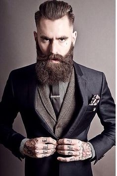 this beard is gross - and the end result is his head/beard look like one big rectangle with his ears protruding in a weird way.