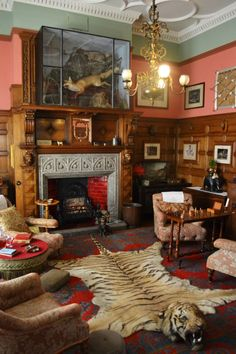 Victorian smoking room how bout beer rug for me tho haha