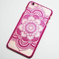 Rose Henna Flower iPhone 6 Plus / 6S Plus Hard Case Boho Chic Mandala Flower iPhone cover