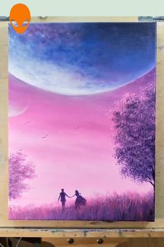 10 Beautiful Starry Sky Painting Ideas Painting Tutorial Videos Part 5 Cute Canvas Paintings, Canvas Painting Tutorials, Painting Videos, Beautiful Paintings, Canvas Art, Creative Painting Ideas, Art Drawings Beautiful, Easy Paintings, Painting Techniques