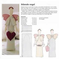 Doll Crafts, Diy Doll, Sewing Crafts, Sewing Projects, Craft Projects, Fabric Toys, Felt Fabric, Christmas Angels, Christmas Crafts