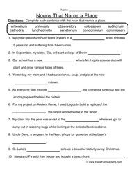 Adding Fraction With Like Denominators Worksheets Pdf Noun Worksheet   Nouns That Name A Person  Nouns Worksheet And  Fun Science Worksheets Middle School Pdf with Maths Worksheets For Class 3 Pdf Noun Worksheet   Nouns That Name A Place Maths Worksheet For Kindergarten Excel