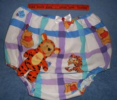Diaper Disney Winnie the Pooh Tigger ABDL Lined with Supple Plastic XLarge w/Toy #Handmade