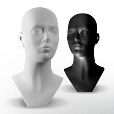 Unisex Plastic Display Heads