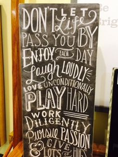 Perfect quote to remind us to ENJOY EACH DAY. #wallsigns #homedecor Heritage Gift Shop, 801.582.1847