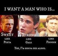 Peeta and Finnick are both sweet, strong and funny. Gale is the only shit head here www.flappybirds.co.uk