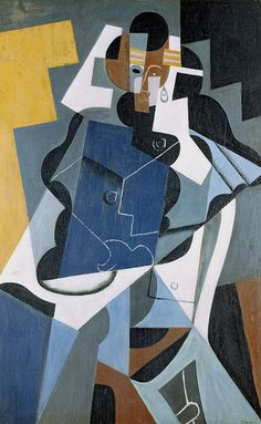 """""""Figure of a Woman"""", 1917 oil on canvas by Juan Gris; Original size (cm): 116 x 73. Private Collection"""