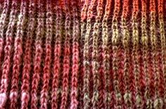 Fishermans Rainbow scarf – how to knit two-colour fishermans rib. must try this. i love fisherman's rib!