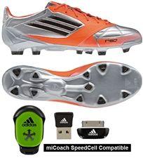 quality design 5fd47 43de0 Adidas F50 adizero (Leather) TRX FG Soccer Cleats (Mettalic Silver Black