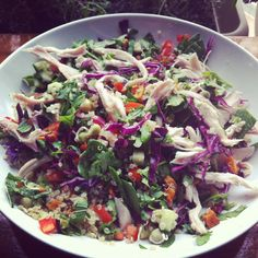Roast Chicken and Quinoa Salad - I Quit Sugar: this will last you the entire week.