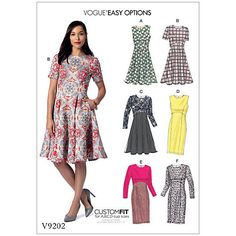 Buy Vogue Women's Custom Fit Dress Sewing Pattern, 9202 Online at johnlewis.com