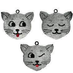 Three Little Kittens Vintage Crochet Pattern Kitty by PatternBabe, $3.00