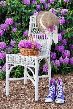 The color purple...love the shoes.