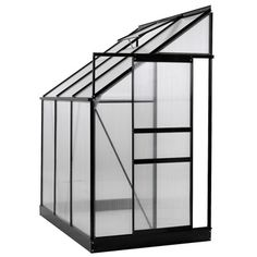 OGrow 4 Ft. W x 6 Ft. D Lean-To Hobby Greenhouse