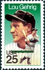 US Stamp -  Baseball  Immortals Lou Gehrig, Iron Horse of the New York Yankees