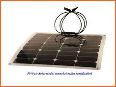 50W Solarmodule 12V semi flexibel monokristallin CLSF Ideal für Boote Wohnmobil