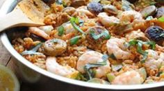 Paella with Zucchini, Shrimp and Chicken recipe - from Tablespoon!