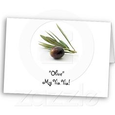 """Olive"" My Yia Yia! Cards"