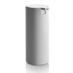 Discover the Alessi Tall Birillo Liquid Soap Dispenser - White at Amara
