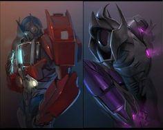 Optimos Prime and Megatron