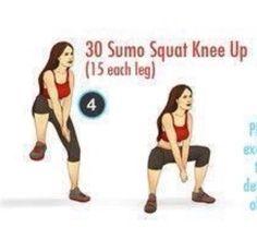 Sumo Squat Knee Up