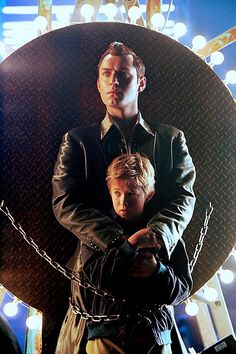 """Haley Joel Osment as David and Jude Law as Gigolo Joe in """"A.I. Artificial Intelligence"""", a sad movie"""