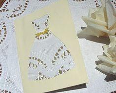 Wedding Lace Dress DIY card