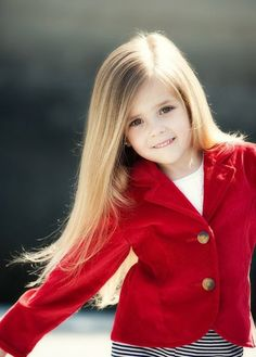 I love her little red coat! too cute!