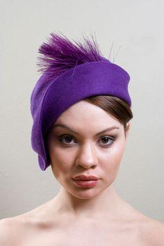 Purple deco hat #millinery #judithm #hats