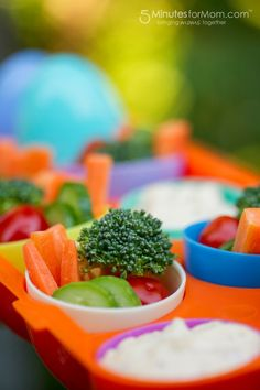 Quick and Easy Picnic Food Ideas - Veggies in a Carton