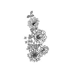 Floral piece for shoulder, forearm or thigh