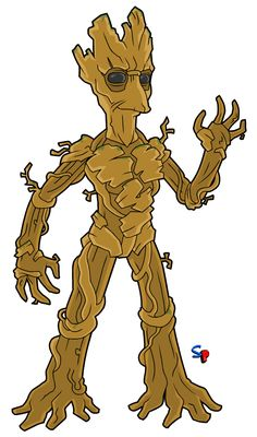 Groot (from Guardians of the Galaxy movie) To round out the last of the movie Guardians of the Galaxy, here's Groot! Simpsons Characters, Simpsons Drawings, Simpsons Art, Marvel Dc, Marvel Heroes, Cartoon Network Adventure Time, Adventure Time Anime, Character Drawing, Guardians Of The Galaxy