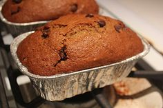 Chocolate Chip Pumpkin Bread. I love making these into muffins