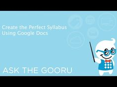 How To Create The Perfect Syllabus In Google Docs   The Gooru