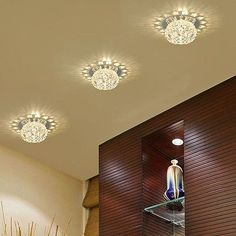 New Gorgeous Modern LED Crystal Warm White Lamp Ceiling Decor Chandelier Light