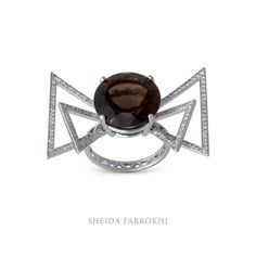 Geometric Bow ring #sheidafarrokhi Most Favorite, Heart Ring, Bows, Rings, Jewelry, Design, Arches, Jewlery, Bowties