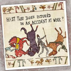 Inspired by the Bayeaux Tapestry with modern day expressions and dilemmas, to result in a hilarious, and unique, new humour #card range.