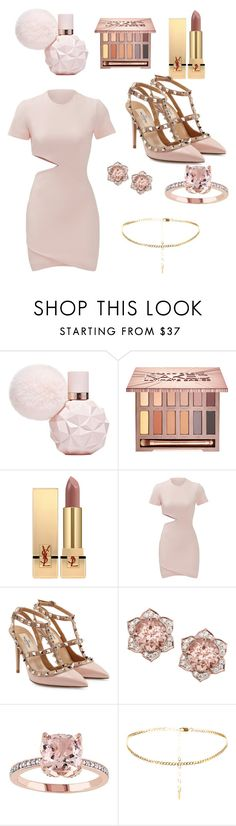 """Pinky - FEATURING ARI! A NEW FRAGRANCE"" by thetrendymermaid ❤ liked on Polyvore featuring Urban Decay, Yves Saint Laurent, Elizabeth and James and Valentino"