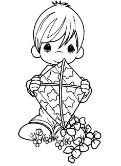 Baby Boy Drawing Precious Moments 70 Ideas For 2019 Coloring Book Pages, Printable Coloring Pages, Precious Moments Coloring Pages, Boy Drawing, Copics, Digital Stamps, Coloring Pages For Kids, Colorful Pictures, Embroidery Patterns