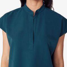 Women's Mandarin Collar Scrub Top - Rafaela – FIGS