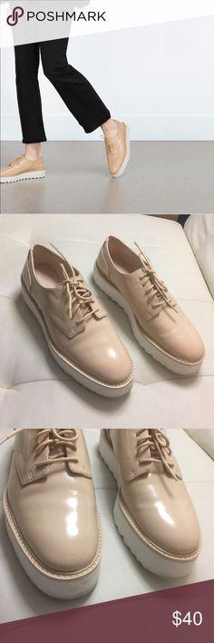 ZARA SHOES Used twice. Size 6. Price firm due to posh fees Zara Shoes Platforms