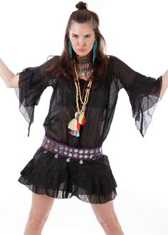 Gypset Tunic Fly black: INDIAN SUMMER, Germany