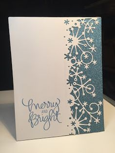 I love sparkle at Christmas time.... It's just so pretty! This was a pretty easy card to throw together... I used a great Memory Box b...