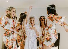 Bridesmaid Robes and Wedding Accessories Bridesmaid Robes, Bride Gifts, Wedding Accessories, Monogram, Bridal, Floral, Bride, Bride Maid Dresses, Monograms