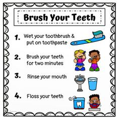 Dental Health Math and Literacy Activities for Preschool or Kindergarten Health Adults Health For Kids Health Kindergarten Care Clean Teeth Care Display Care Routine Happy Dental, Dental Kids, Free Dental, Health Literacy, Health Activities, Educational Activities For Kids, Health Unit, Kindergarten Math Activities, Preschool