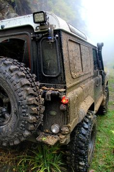 All terrain Land Rover Defender 90 off road