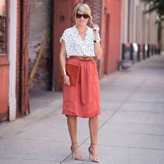 < fall for flowy > now on s + s.  This skirt (pardon the slight wrinkles--was driving all day) is 50% OFF--making her under $40--perfect transitional midi---shop the post here  @liketoknow.it www.liketk.it/1H9zl #liketkit