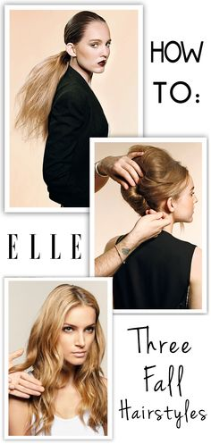 How to for three fall hairstyles.  #fallhair